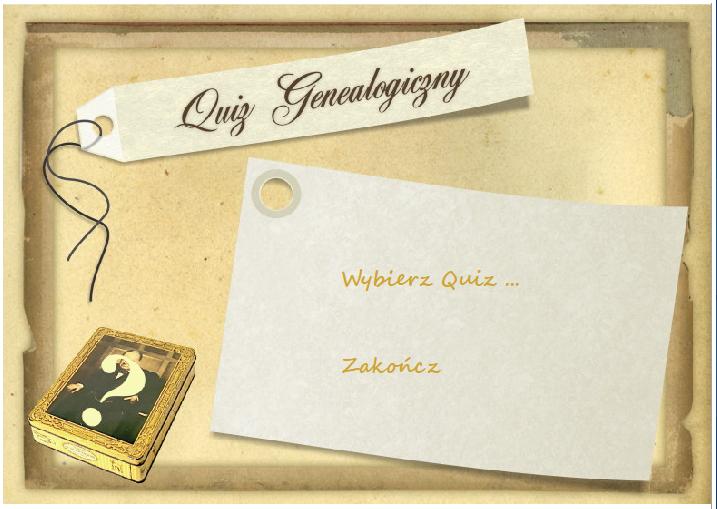 Quiz genealogiczny